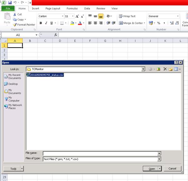 Excel-open-log-file