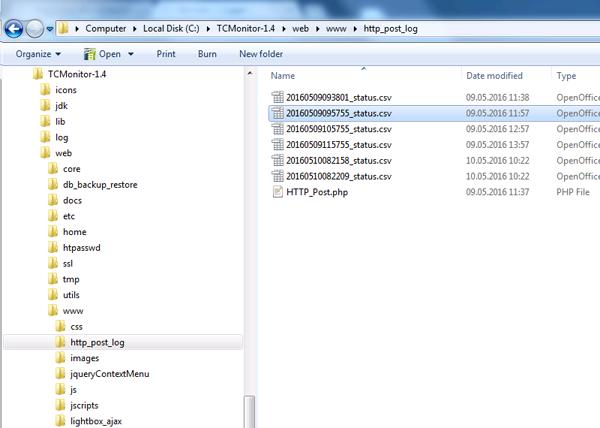Folder-http-post-log