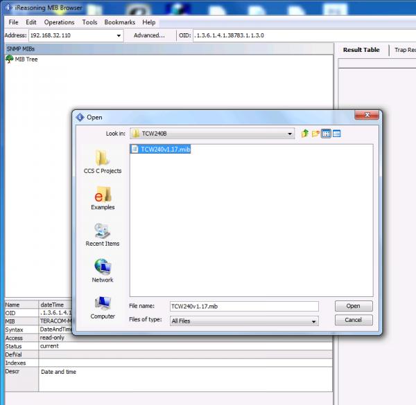 WatFile.com Download Free Using iReasoning MIB browser with TCW240B - Teracom